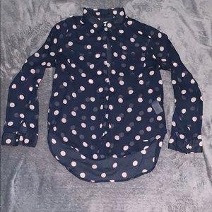 Hollister polkadot blouse